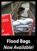 Sand filled flood bags
