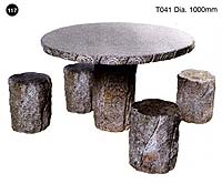 Grey Granite Table + 4 Seats