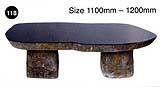 Black Granite Polished Bench